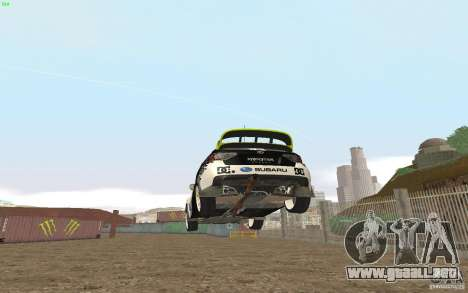 Subaru Impreza WRX Gymkhana2 Beta para GTA San Andreas vista posterior izquierda