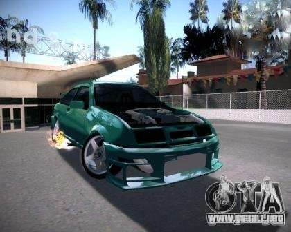 Ford Sierra Drift para GTA San Andreas vista posterior izquierda