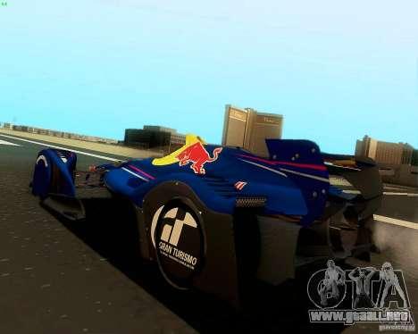 X2010 Red Bull para GTA San Andreas left