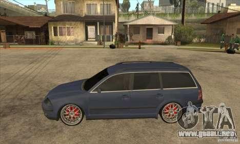 Volkswagen Passat B5.5 2.5TDI 4MOTION para GTA San Andreas left