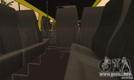 Minibús Gazelle 32213 Novosibirsk para vista lateral GTA San Andreas