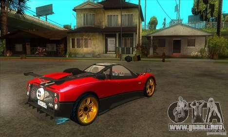Pagani Zonda Tricolore V1 para la visión correcta GTA San Andreas