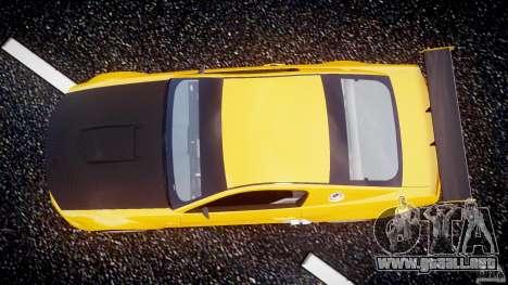 Ford Mustang GT-R para GTA 4 vista hacia atrás