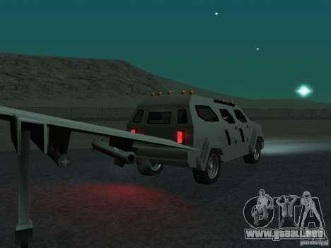 FBI Truck from Fast Five para GTA San Andreas vista hacia atrás