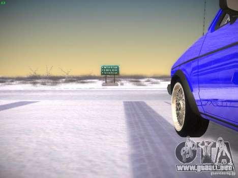 Volkswagen Rabbit GTI para GTA San Andreas vista hacia atrás