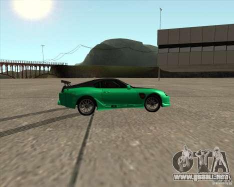 Toyota Supra ZIP style para visión interna GTA San Andreas