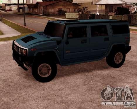 Hummer H2 SUV para GTA San Andreas left