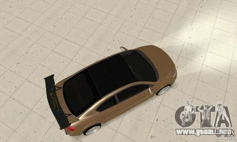 Toyota Scion tC Edited para GTA San Andreas vista posterior izquierda