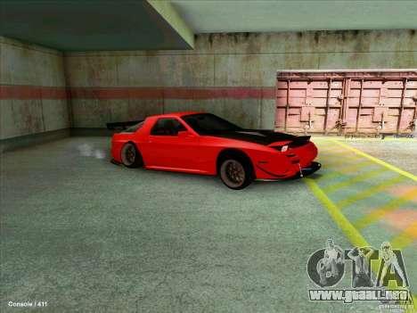 Mazda RX7 para GTA San Andreas vista posterior izquierda