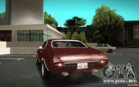 Chevrolet Chevelle SS para visión interna GTA San Andreas