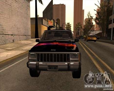Jeep Cherokee para visión interna GTA San Andreas