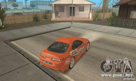 Toyota Supra Tunable 2 para el motor de GTA San Andreas