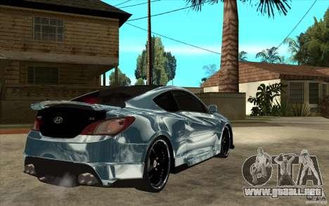 Hyundai Genesis Tuning para la visión correcta GTA San Andreas