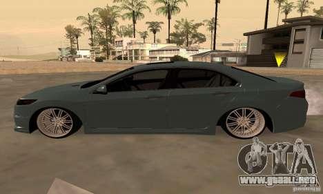 Acura TSX 2010 para GTA San Andreas vista hacia atrás