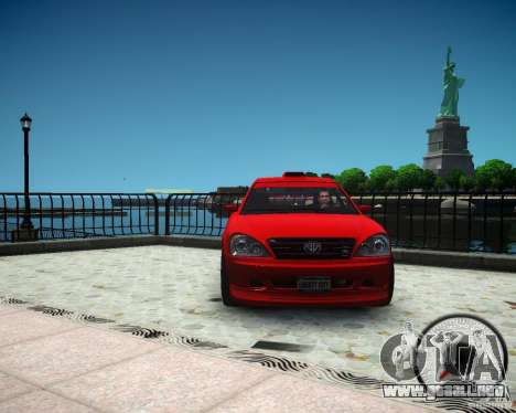 Schafter RS para GTA 4 vista hacia atrás