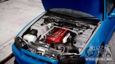 Nissan Skyline R-34 V-spec para GTA 4 vista lateral