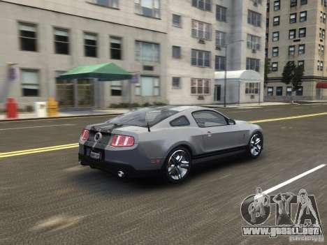 Shelby GT500 2010 para GTA 4 vista hacia atrás