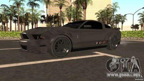 Shelby Mustang 1000 para GTA San Andreas vista hacia atrás