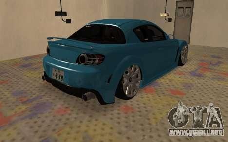 Mazda RX8 VIP para la visión correcta GTA San Andreas