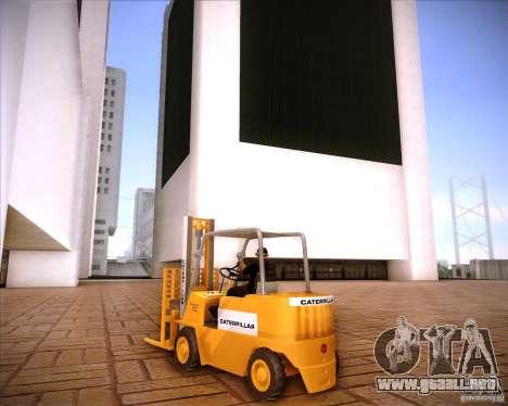 Caterpillar Torocat para la visión correcta GTA San Andreas