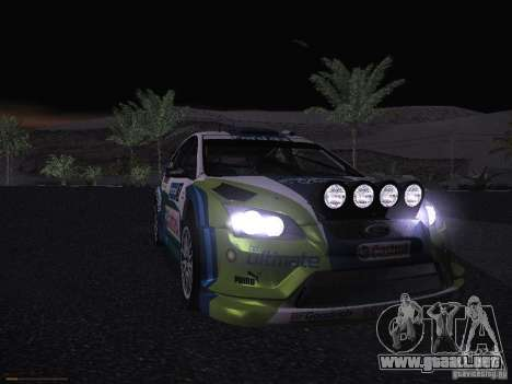 Ford Focus RS WRC 2006 para vista inferior GTA San Andreas