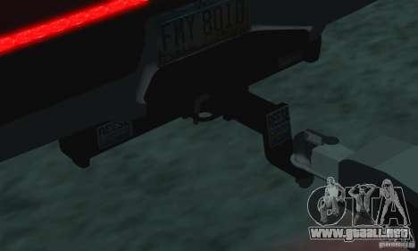 Trailer de la Chevrolet Silverado 2012 para la visión correcta GTA San Andreas