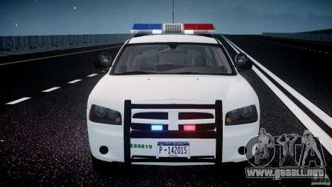 Dodge Charger US Border Patrol CHGR-V2.1M [ELS] para GTA 4 interior