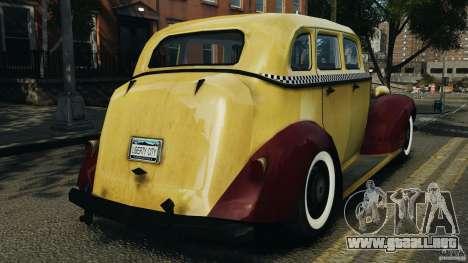 Shubert Taxi para GTA 4 Vista posterior izquierda