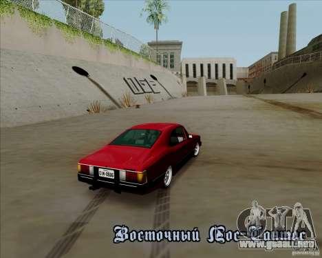 Chevrolet Opala Diplomata 1986 para visión interna GTA San Andreas