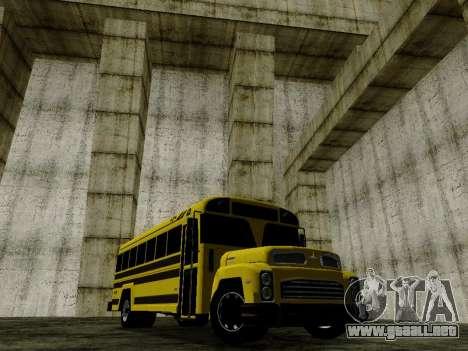 International Harvester B-Series 1959 School Bus para GTA San Andreas vista posterior izquierda