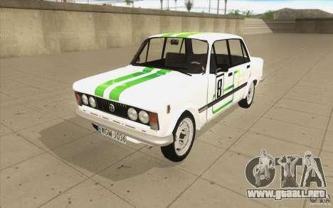 Fiat 125p para vista inferior GTA San Andreas