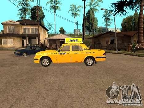 Volga GAZ-31105 Taxi para GTA San Andreas left