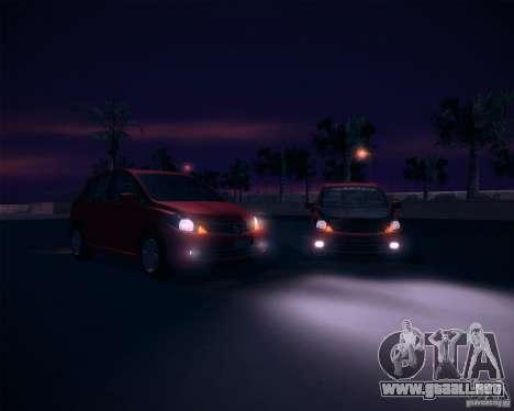 Nissan Versa Stock para la visión correcta GTA San Andreas