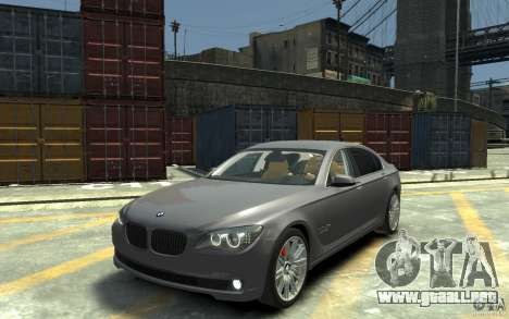 BMW ActiveHybrid 7 2010 para GTA 4