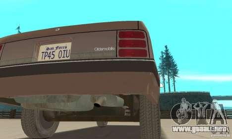 Oldsmobile Cutlass Ciera 1993 para la vista superior GTA San Andreas