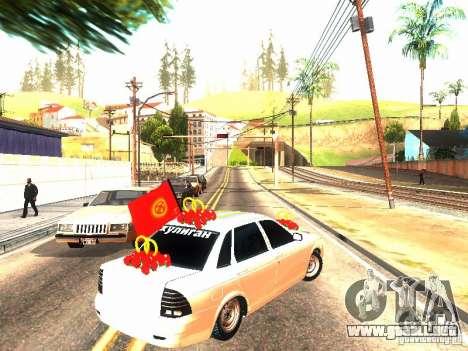 LADA 2170 boda para GTA San Andreas vista posterior izquierda