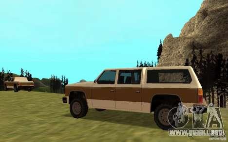 Un ranchero del FBI civil para GTA San Andreas vista posterior izquierda