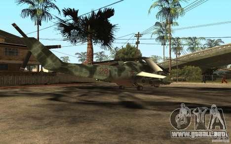 MI-24A para GTA San Andreas vista posterior izquierda