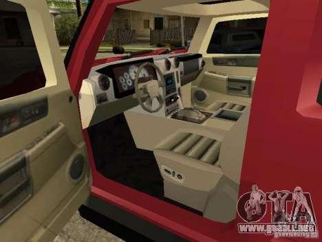 Hummer H2 Tuning para la visión correcta GTA San Andreas