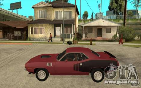 Plymouth Cuda 426 para GTA San Andreas left