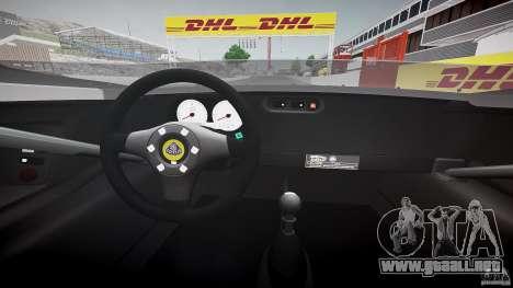 Lotus 2-11 para GTA 4 vista hacia atrás
