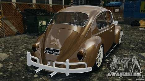 Volkswagen Fusca Gran Luxo v2.0 para GTA 4 Vista posterior izquierda