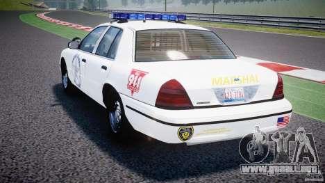 Ford Crown Victoria US Marshal [ELS] para GTA 4 Vista posterior izquierda