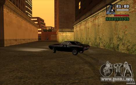 Dodge Challenger 1971 para vista lateral GTA San Andreas