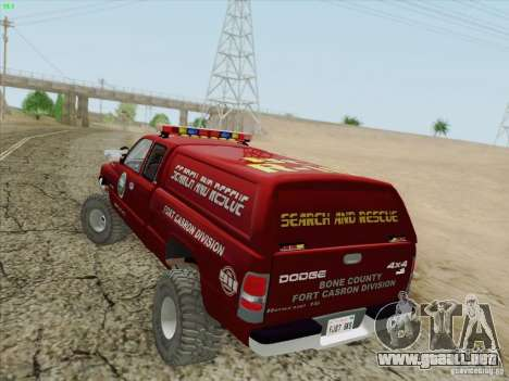 Dodge Ram 3500 Search & Rescue para las ruedas de GTA San Andreas
