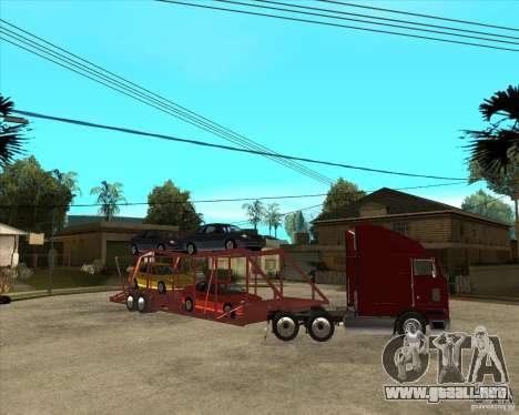 Carro del semi-remolque para la vista superior GTA San Andreas