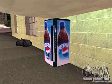 Máquinas expendedoras PEPSI para GTA San Andreas segunda pantalla