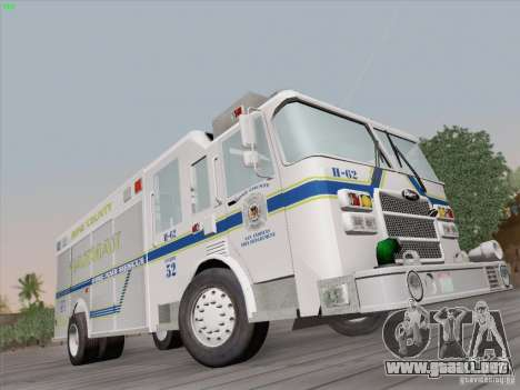 Pierce Fire Rescues. Bone County Hazmat para GTA San Andreas