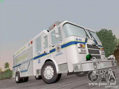 Pierce Fire Rescues. Bone County Hazmat para la visión correcta GTA San Andreas