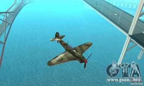 Yak-9 durante la II Guerra Mundial para visión interna GTA San Andreas